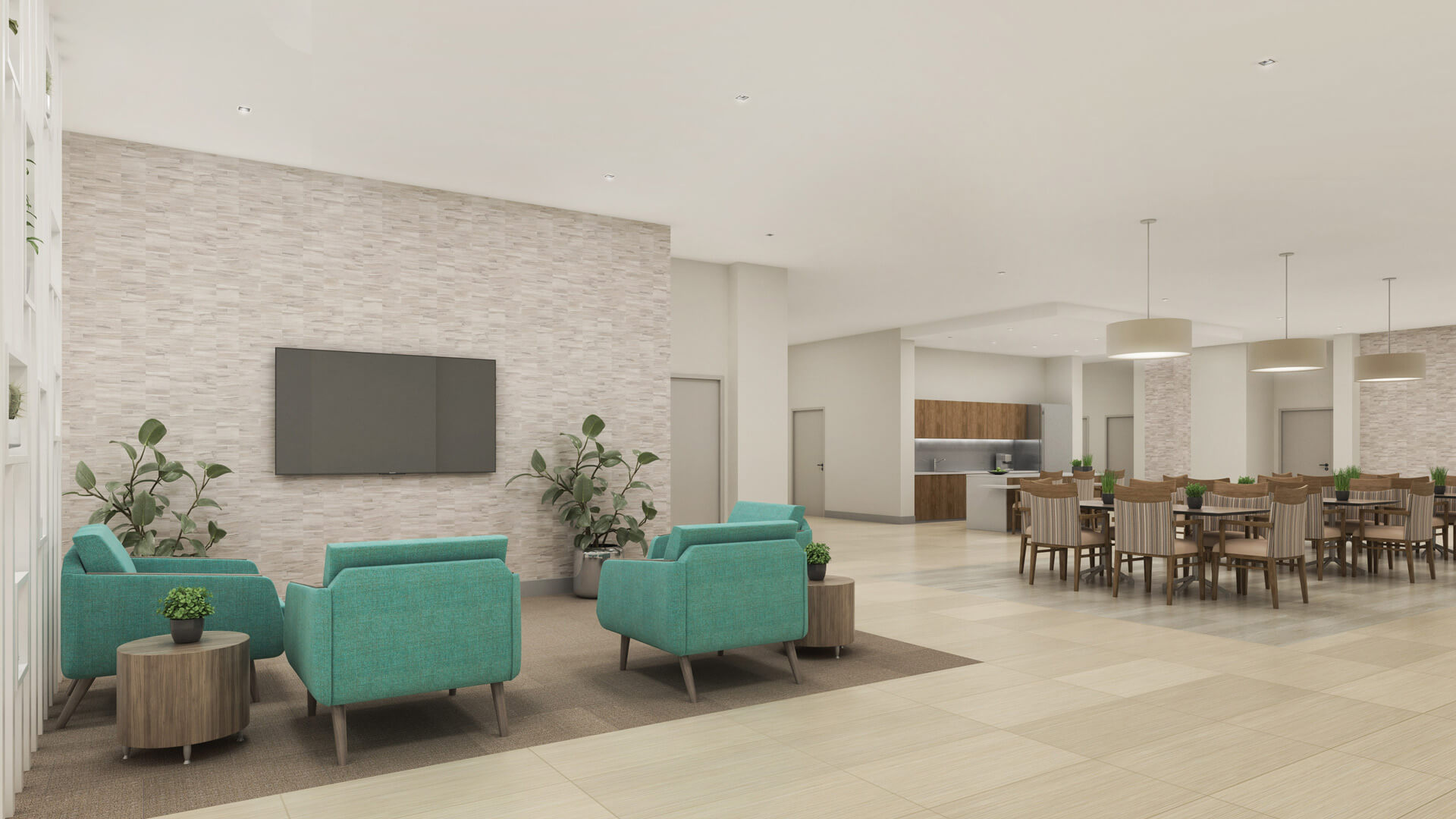 Skilled Nursing - Family Room and Dining Room